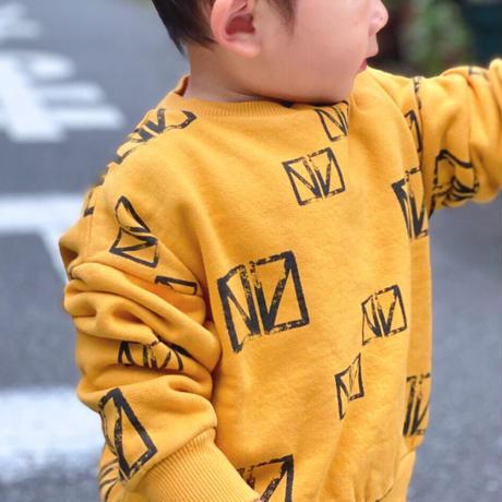 【 barn of monkeys 】PRINTED SWEATSHIRT -Yellow-