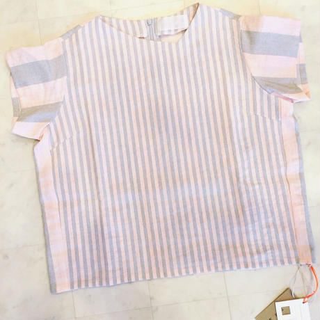 【 POTTENBURN TOHKI 】STRIPE SHIMAI SHORT SLEEVE TOP
