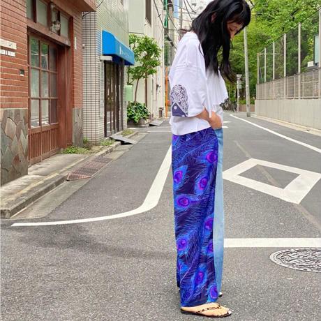 【 Yuumi ARIA 】DENIM DOCKING PANTS -Blue-
