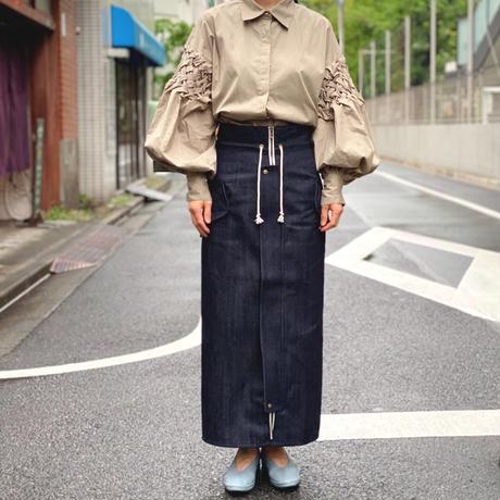 【 daichïogata 】デニムモッズスカート(生デニム)