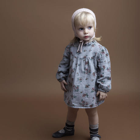 【 tocoto 】Flower print baby dress