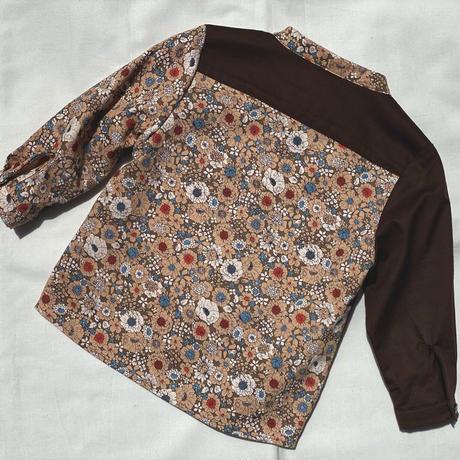 【 melenani 】CHIRTS [チャツ]  Long Sleeve Shirt (BEIGE FLOWER)