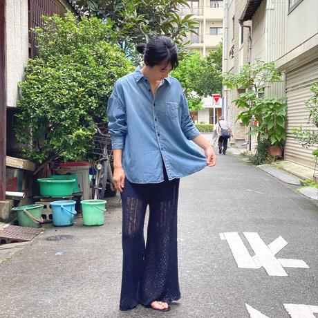 【 OMNIGOD 】5.5ozDenim Wide work shirts