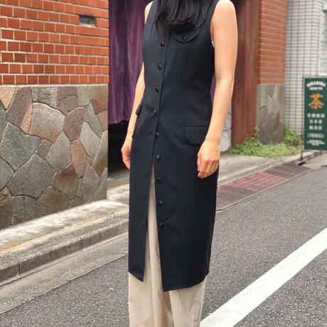 【 daichïogata 】シングルモッズドレス(ブラック)