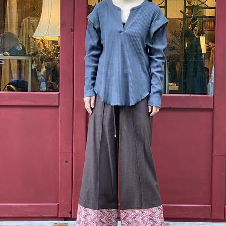 【 Create Clair 】Waist mark easy wide pants (パンツ)