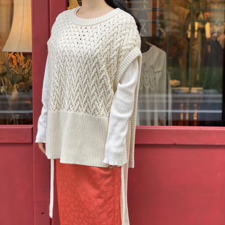 【 Create Clair 】Cotton basket over vest (トップス)
