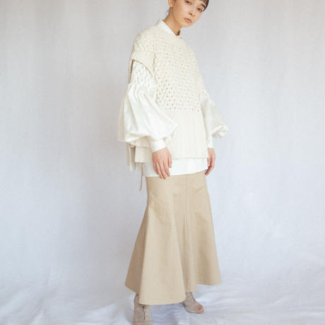 【 Create Clair 】Smocking sleeve blouse (ブラウス)