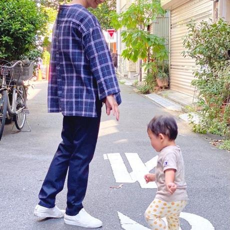【 Yuumi ARIA 】BACK OVER T-SHRITS -Navy-