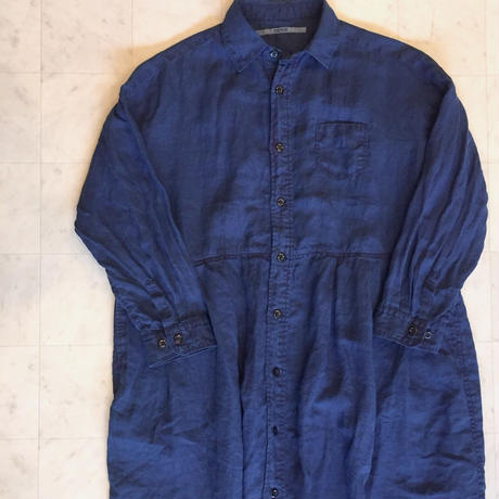 【 OMNIGOD 】Wide work Dress -indigo-