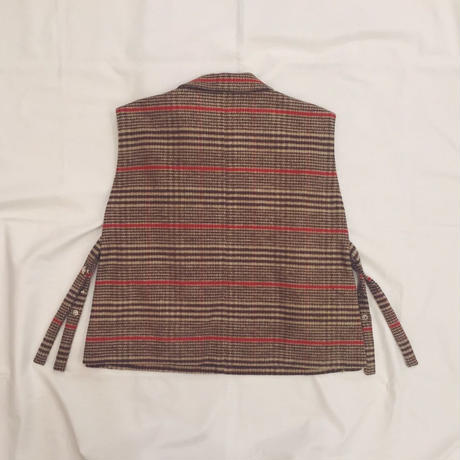 【 MARU TO 】Check Shirt Vest