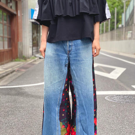 【 Yuumi ARIA 】DENIM DOCKING PANTS -Dot-