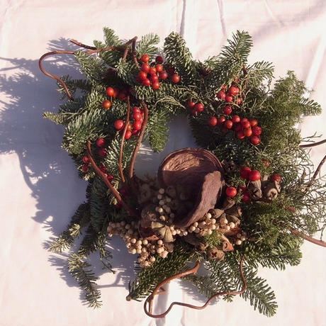 【花園-kaen°-】wreath -Red berry-
