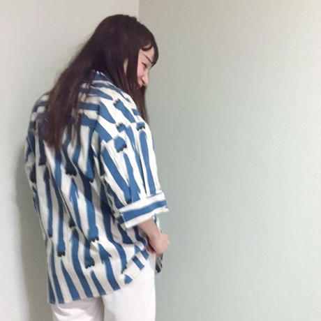 【 MARU TO 】Open Collar Shirt