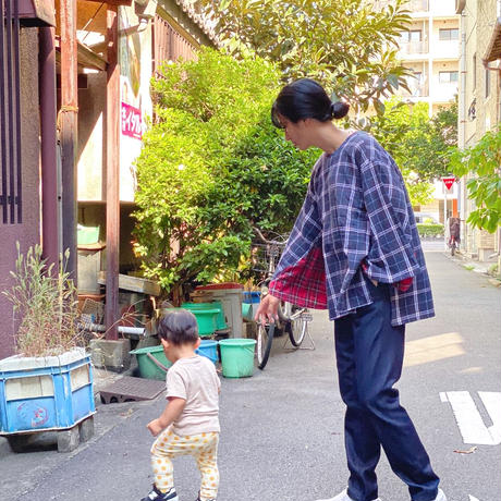【 Yuumi ARIA 】BACK OVER T-SHRITS -Navy-