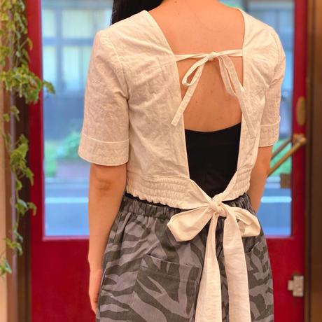 【 tatoe 】 back Ribbon bustier