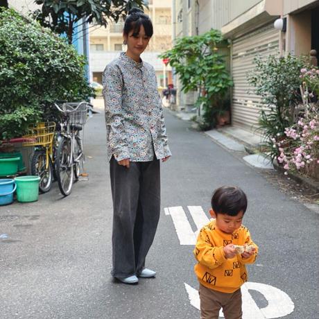 【 melenani 】CHIRTS[チャツ] -for MOM & DAD- (BLUE FLOWER)