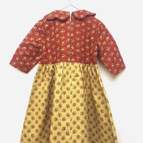 【 melenani 】Vintage US Cotton Bicolar Dress