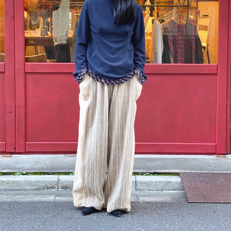 【 tatoe 】 curve tweed knit (カットソー)