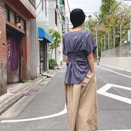 【 Create Clair 】Smocking cut pullover