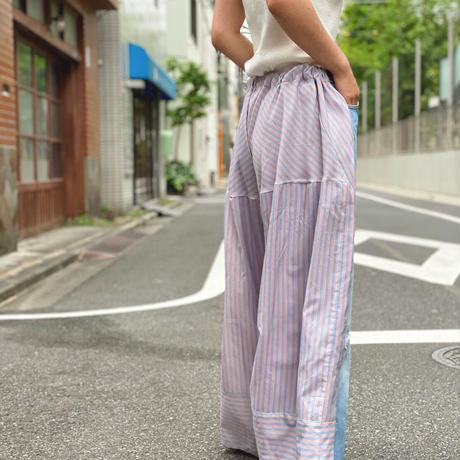 【 Yuumi ARIA 】DENIM DOCKING PANTS -Stripe-