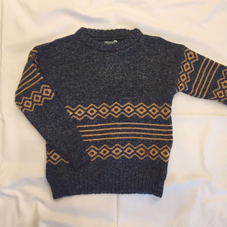 【 tocoto 】Jaquered-knit sweater