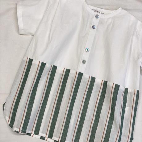 【 AU CLAIR DE LA LUNE 】Long shirt 2 tone -110 size-
