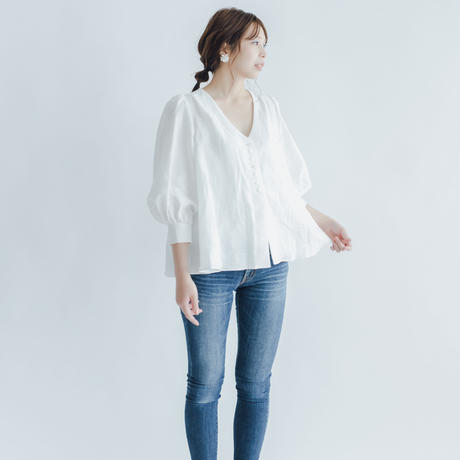 【 Ruimeme 】Simple Linen Blouse