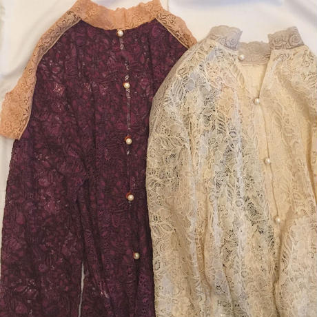 【 HOUGA 】lace budding blouse