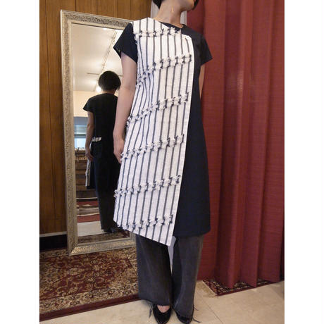 【 POTTENBURN TOHKI 】WASHI SHIMA ASYMMETRY DRESS