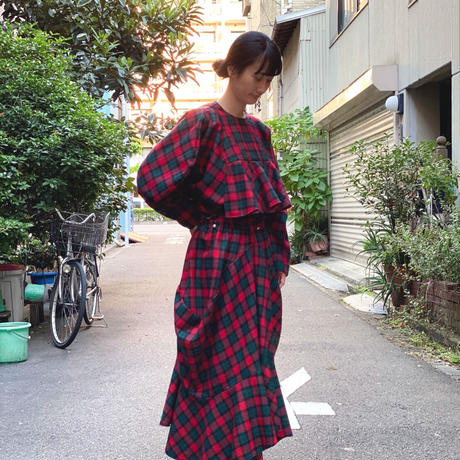 【 HOUGA 】twiddle skirt -Redch-