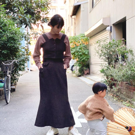 【 daichïogata 】ウエストコートビスチェ -Brown-