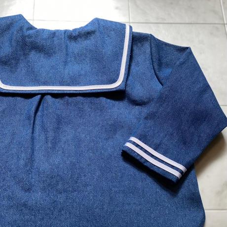 【 AU CLAIR DE LA LUNE 】セーラーシャツ L/S -80,90size-