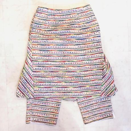 【 mania TOKYO 】Tweed Back Flare Skirtpant