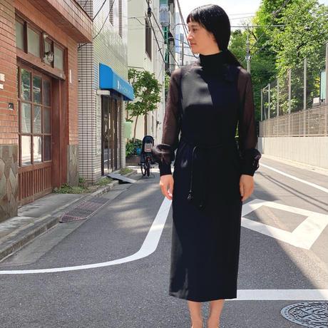 【 daichïogata 】サマードレス(ブラック × ブラック)