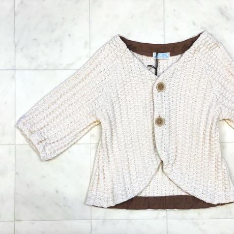【 whip cream 】ラフワッフルカーデ / 80-90size