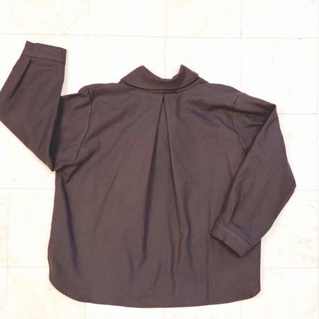 【 AU CLAIR DE LA LUNE 】Shawl Neck Shirt