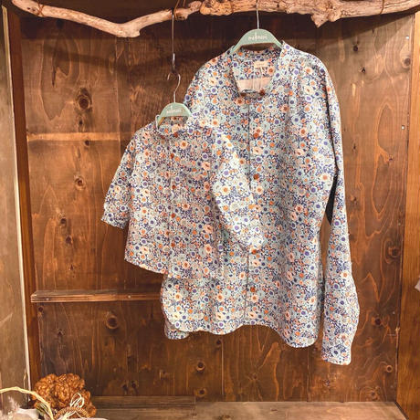 【 melenani 】CHIRTS [チャツ]  Long Sleeve Shirt (BLUE FLOWER)