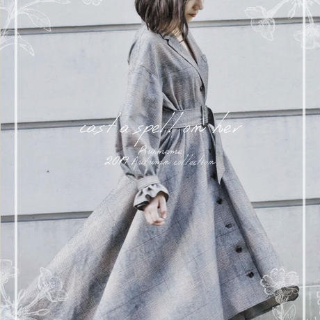 【 Ruimeme 】Dress trench coat -check-