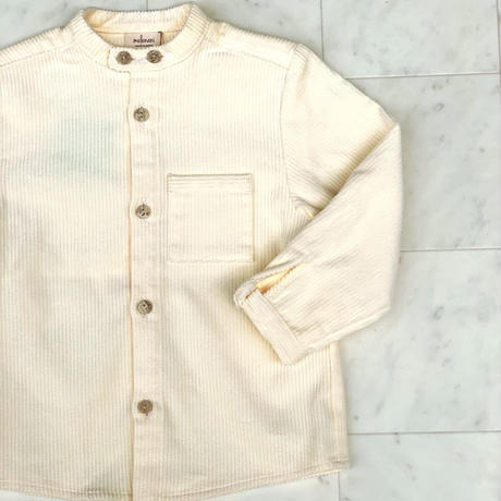 【 melenani 】CHIRTS [チャツ]  Long Sleeve Shirt (MILK corduroy)