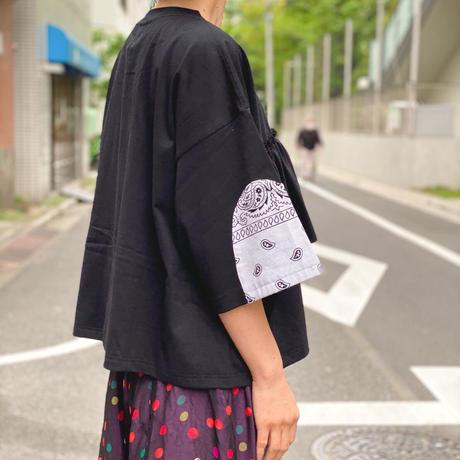 【 Yuumi ARIA 】PAISLEY GATHER T-SHIRT