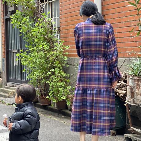 【 Ruimeme 】〈Emma〉palma check dress