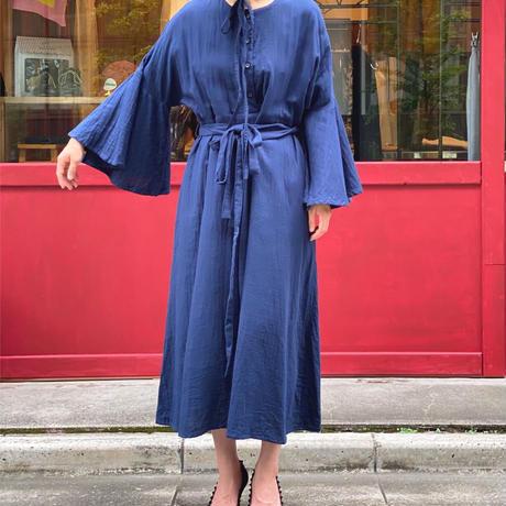 【 umu 】flare sleeve dress