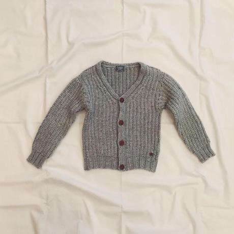 【 tocoto 】Half cardigan stitch cardigan