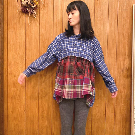 【 Yuumi ARIA 】FOOD SHIRT -Navy-