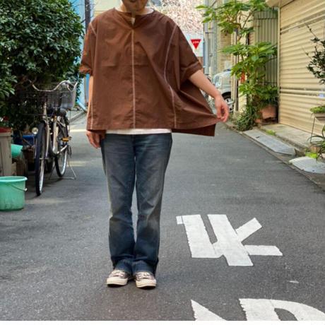 【 OMNIGOD 】トリプルステッチノースリーブシャツ