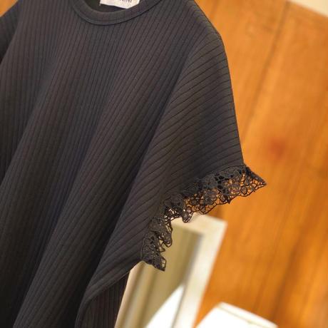 【 UNIONINI 】teadybear lace rib tops