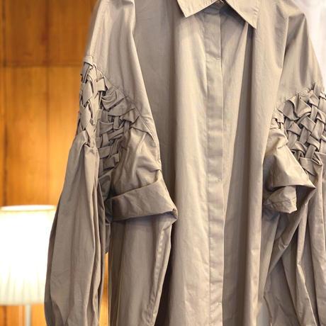【 Create Clair 】Smocking sleeve blouse -Grage-
