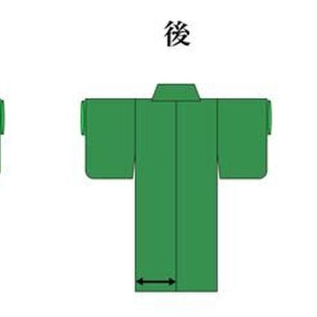 リユース【大島紬 OT-00182】紺地 雲調柄  身丈155cm 裄丈63cm