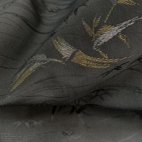 Sparkling bamboo pattern haori, black #h028