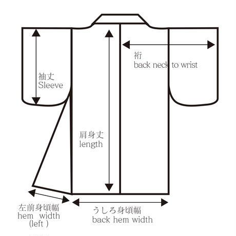Pine tree pattern SO-SHIBORI haori, black #h016